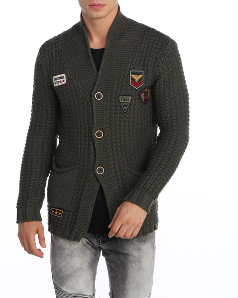 RON TOMSON - Long Lightweight Patch Cardigan - RNT23 - 6