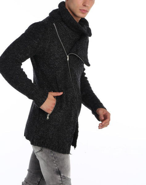 RON TOMSON - Asymmetric Closure Long Zipper Cardigan - RNT23 - 7
