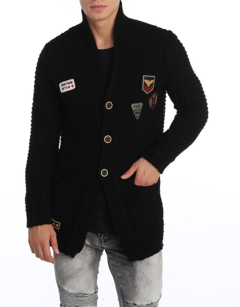 RON TOMSON - Long Lightweight Patch Cardigan - RNT23 - 1