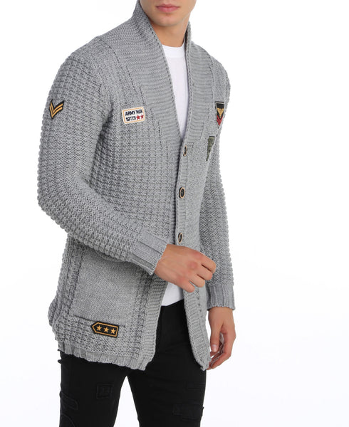 RON TOMSON - Long Lightweight Patch Cardigan - RNT23 - 3