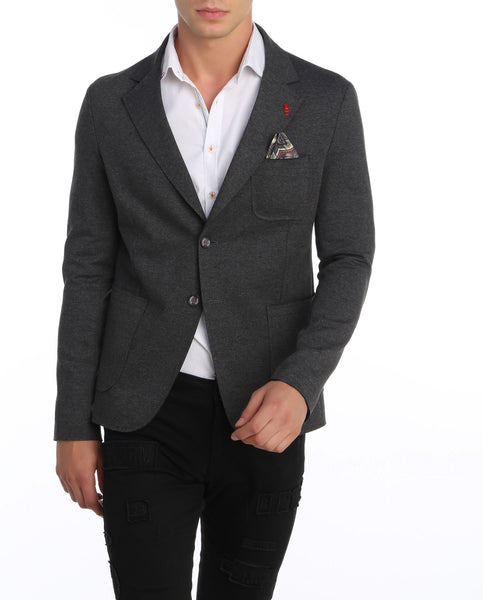 RON TOMSON - Laser Cut Fitted Casual Blazer - RNT23 - 1