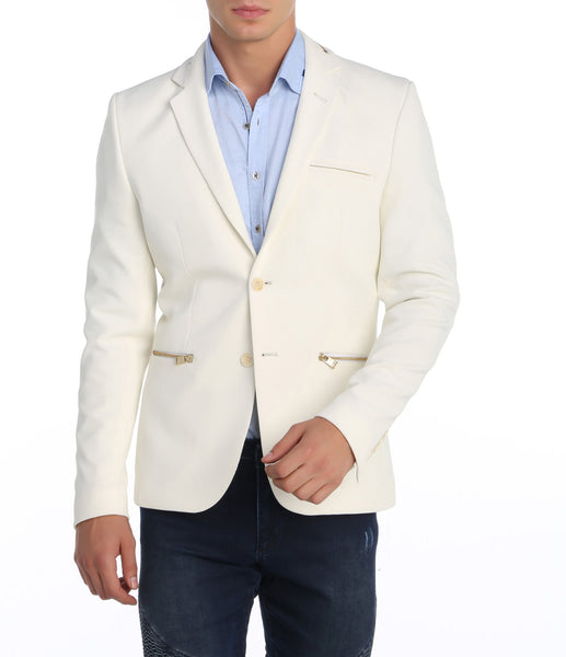 RON TOMSON - Zipper Pocket Blazer - RNT23 - 1