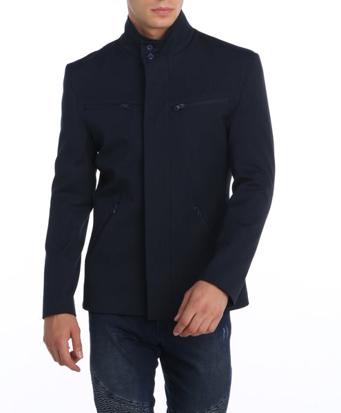 RON TOMSON - Stand Collar Zipper Jacket - RNT23 - 1