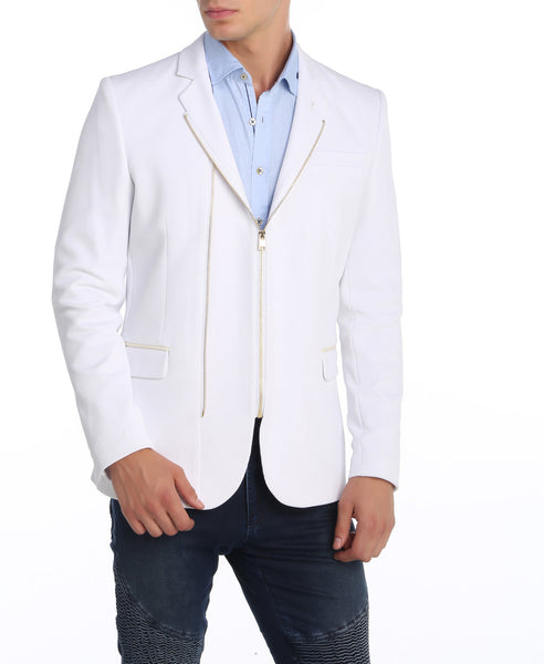 RON TOMSON - Double Zipper Blazer - Gold Zipper - RNT23 - 1