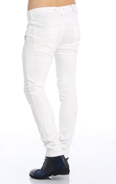 RON TOMSON - Multi Zipper Moto Jeans - White Gold - RNT23 - 4