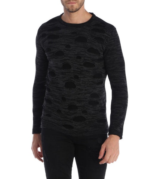 RON TOMSON - Crew Neck Holey Sweater - RNT23 - 1