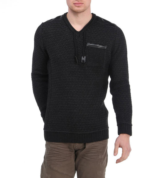RON TOMSON - Crew Neck Pattern Knit Casual Pull Over - RNT23