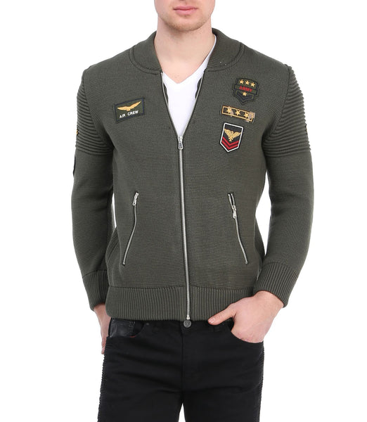 RON TOMSON - Patch Embellished Varsity Bomber Jacket - RNT23 - 1