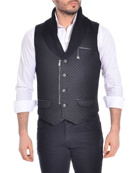 RON TOMSON - Quilted Zip Button Vest - RNT23 - 1