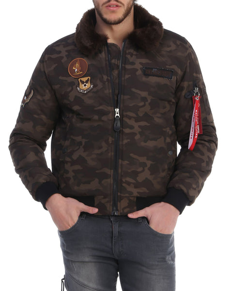 RON TOMSON - Fur Army Bomber Jacket - RNT23 - 1