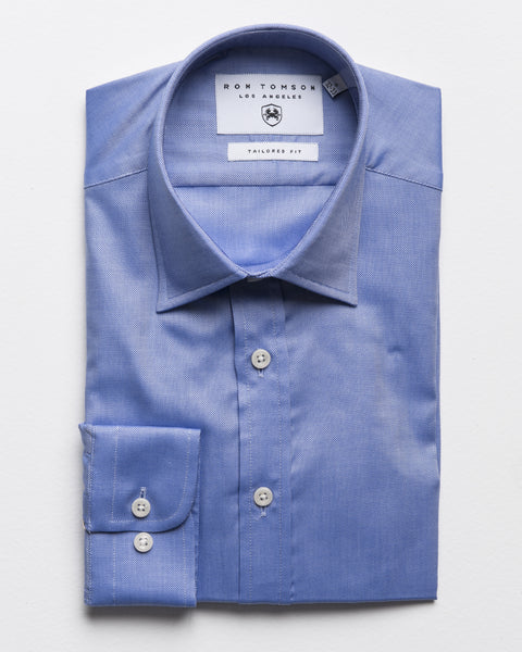 Spread Collar Dress Shirt - Weoliym Blue A