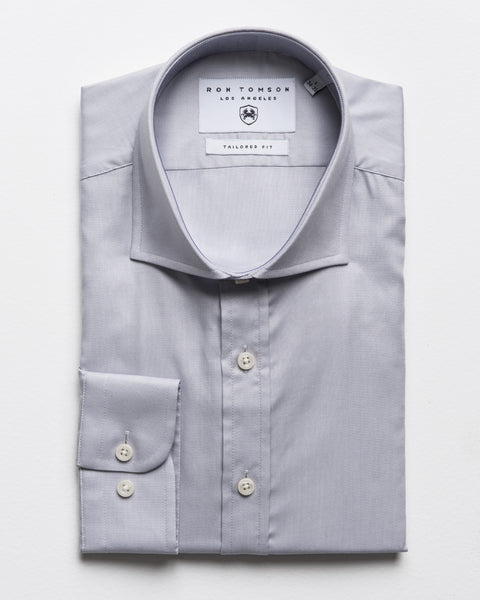 Spread Collar Dress Shirt - Grey A