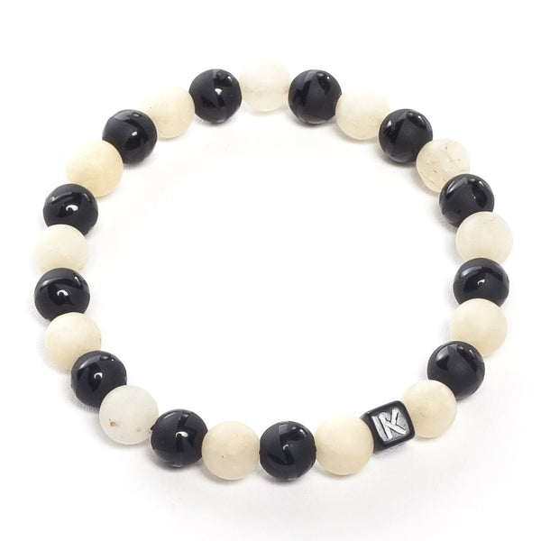 Natural Stone Bracelet - Black White