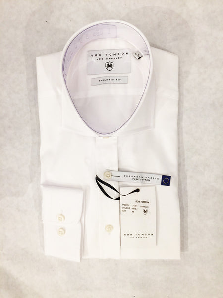 Italian Collar Dress Shirt - White 1