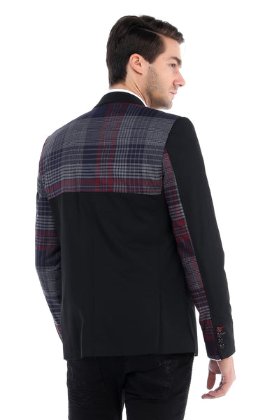 RON TOMSON - Zipper Pocket Plaid Back Jacket - RNT23 - 3