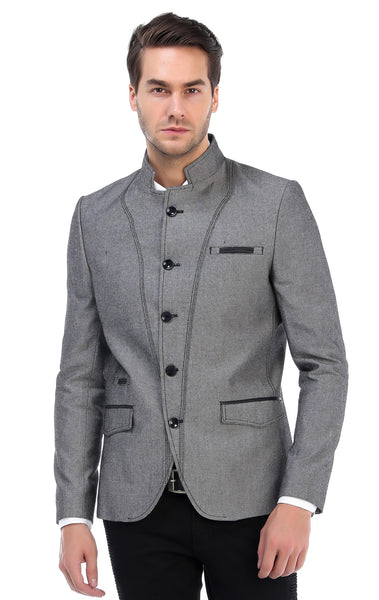 RON TOMSON - Symmetric Button Closure Jacket - Grey - RNT23 - 1