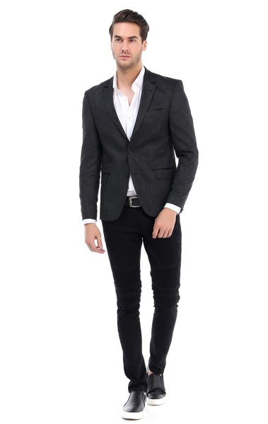 RON TOMSON - Flap Pocket Two Button Notch Lapel Jacket - Black - RNT23 - 4
