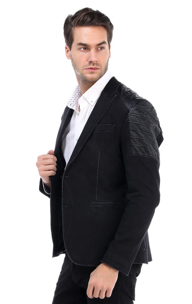 RON TOMSON - Moto Shoulder Peak Lapel Slim Fit Jacket - RNT23 - 3