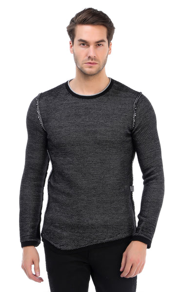 RON TOMSON - Crew Neck Reverse Sweater - RNT23 - 1