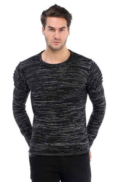 RON TOMSON - Ripped Shoulder Sweater - RNT23 - 1