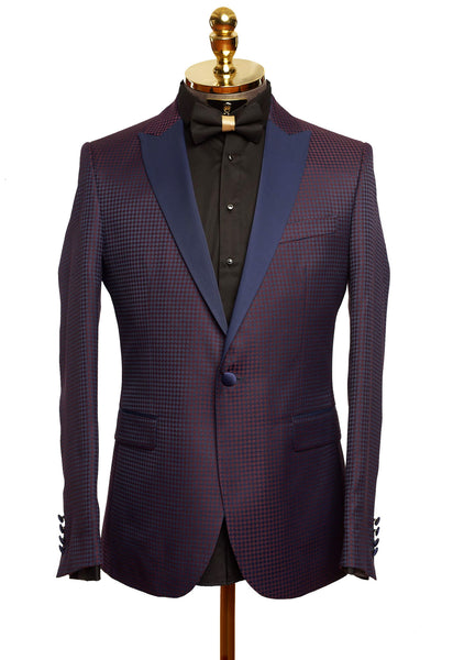 RON TOMSON - Contrast Peak Lapel All Over Houndstooth Tuxedo - RNT23 - 1