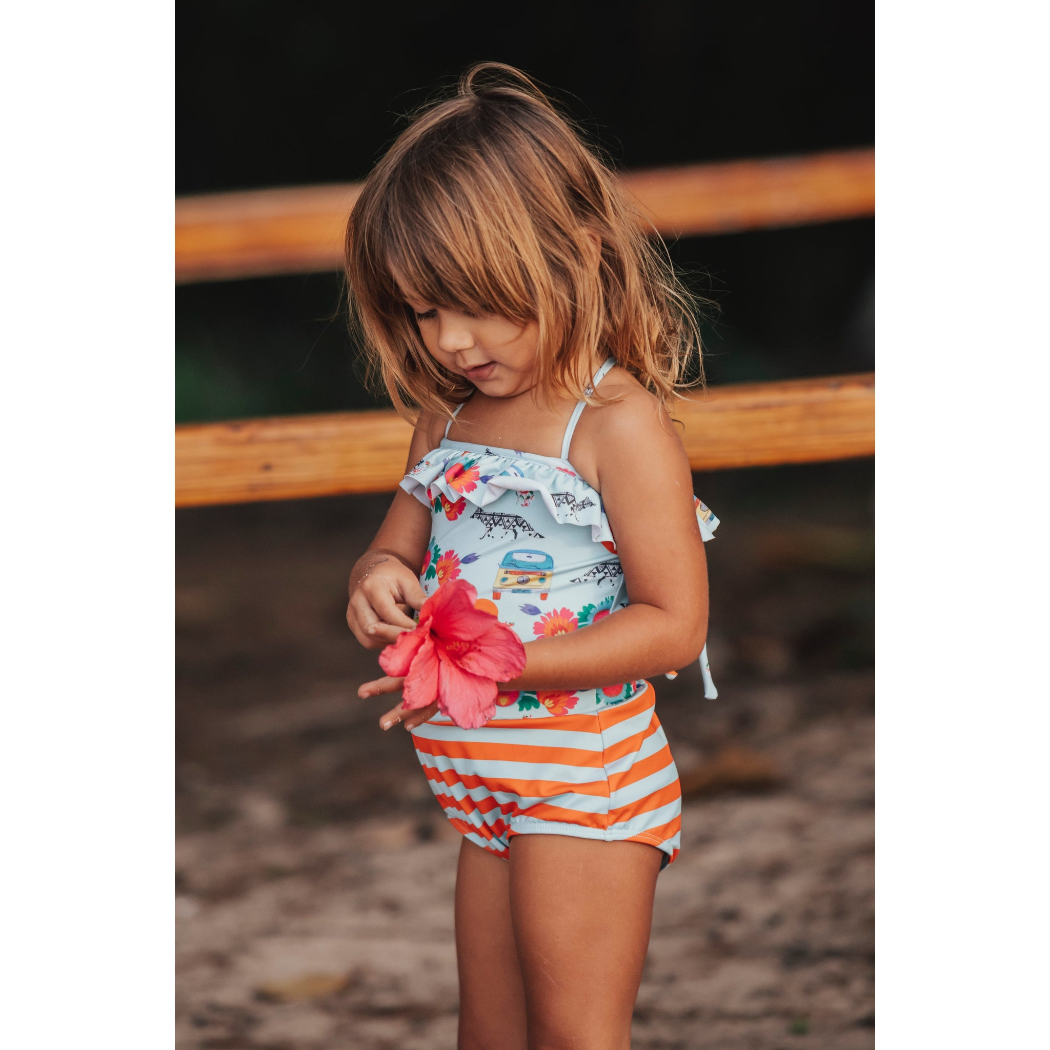 Girls One Piece Puka - Print Mia/Lili