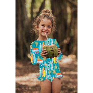 Girls One Piece Avalon - Print Makai