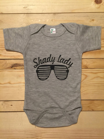 Shady Lady Tee/Onesie