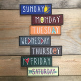 Days of the Week Patches