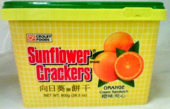 Croley Foods Sunflower Crackers Orange Flavor (Can) 28.3oz