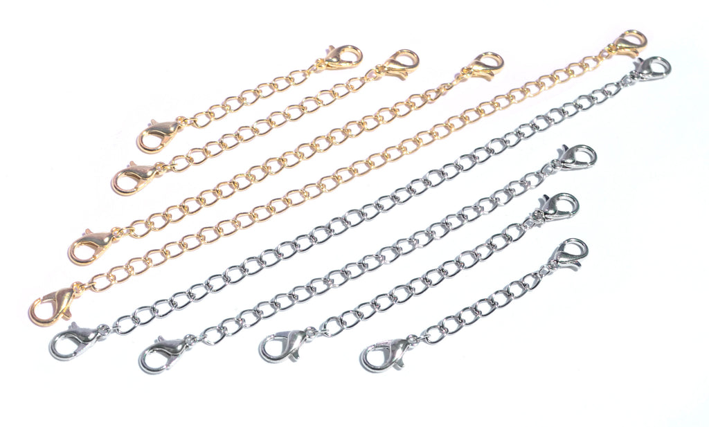 Premium Necklace Extender Bundle Set - 2 Magnetic Extenders & 8 Chain Link Extenders