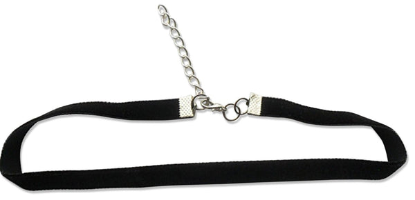 "Black Velvet Choker Necklace 3/8"" Necklace - Nickel Free Metal Lobster Clasp by Cocorina"