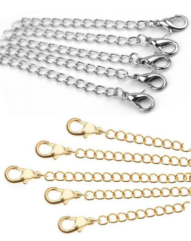 Necklace Extenders Pack of 10 Includes 5 Gold & 5 Silver by Cocorina