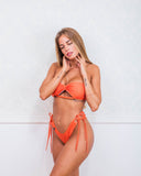 Orange Logomania Bikini Swimsuit