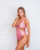 Methoni Pink Logomania Swimsuit