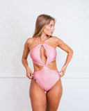 Drimo Pink Logomania Swimsuit