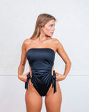 Black Cut Out One Piece Swimsuit