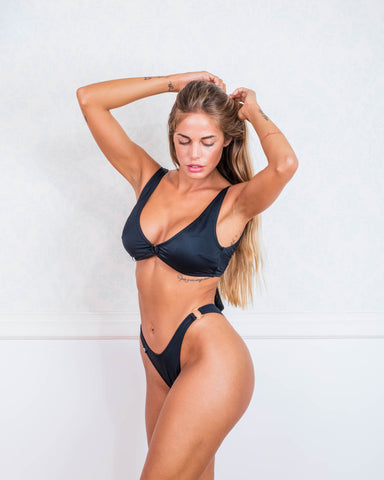 Black and Gold Bikini Swimsuit