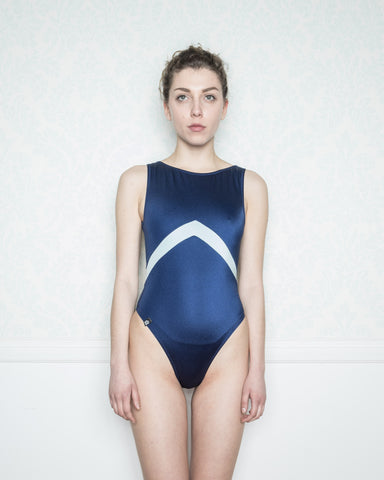 Anthi Blue and Light Blue Swimsuit