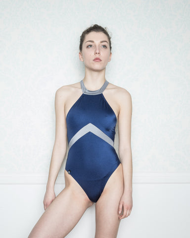 Alcyoneus Blue and Silver Swimsuit