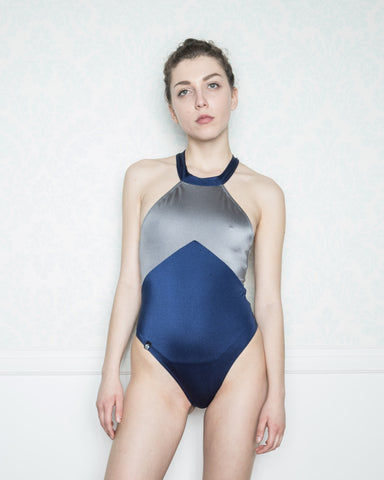 Asteria Blue and Silver Swimsuit