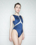 Alkippi Blue and Silver Swimsuit