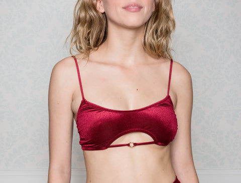 Agavi Red Velvet Top Bikini Limited
