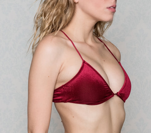 Pasithea Red Velvet Top Bikini Limited