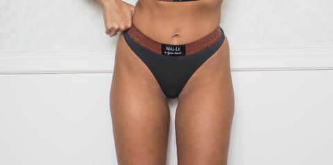 Dark Gray Thong Briefs