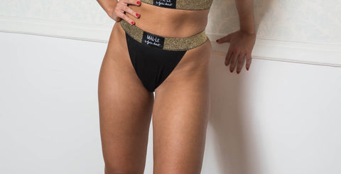 Black High Waist Briefs