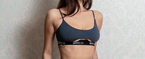 Basic Gray Bra with Cut Out