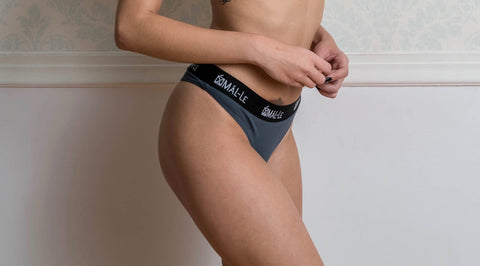 Basic Gray Thong Briefs