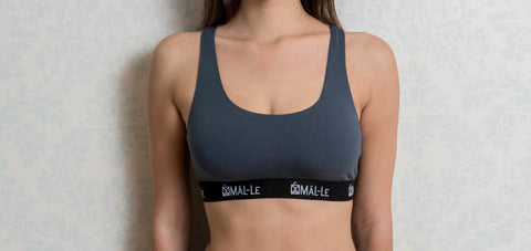 Basic Gray Sporty Bra
