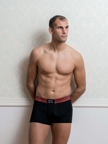 Red Lurex Male Trunk Underwear